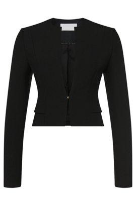 Short blazer with viscose and cotton: 'Jiopela', Black