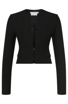 Short blazer with viscose and cotton: 'Jiopela', Black