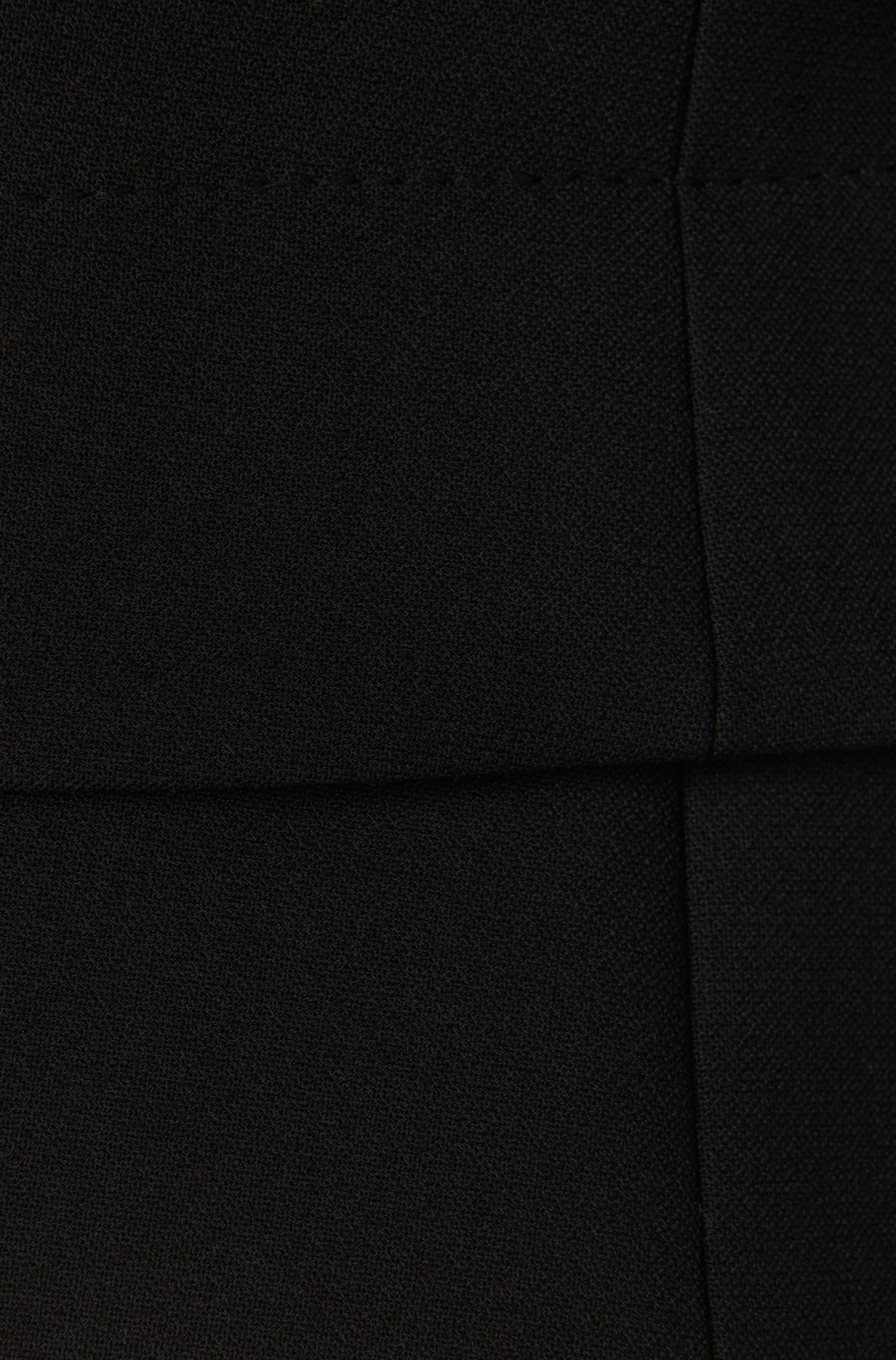 Blazer court en viscose mélangée à du coton: «Jiopela», Noir