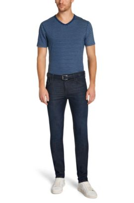 Extra Slim-Fit Jeans aus Stretch-Baumwolle: 'Miami2', Blau