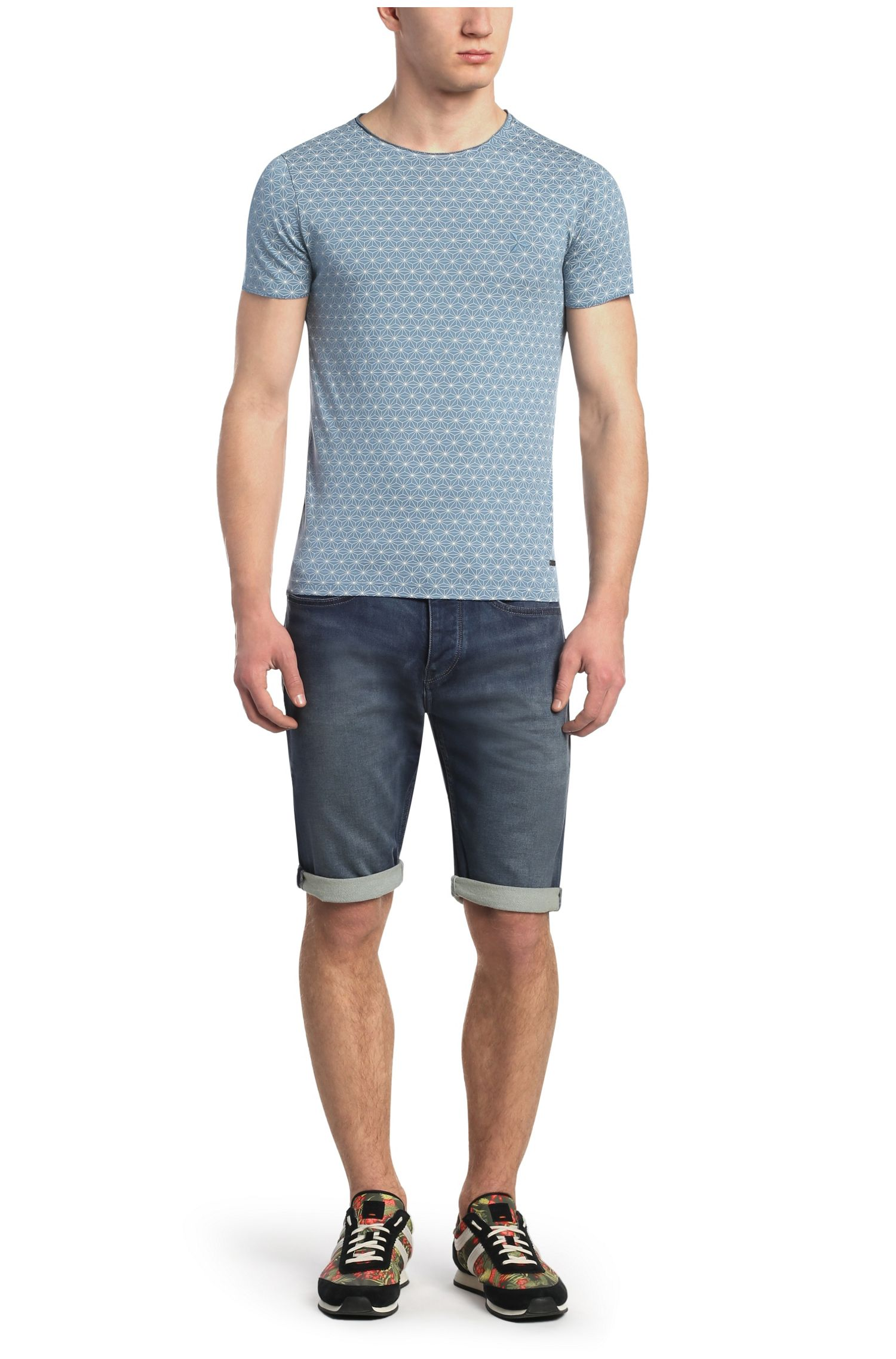 T-shirt en coton, à imprimé étoiles: «Tylon»