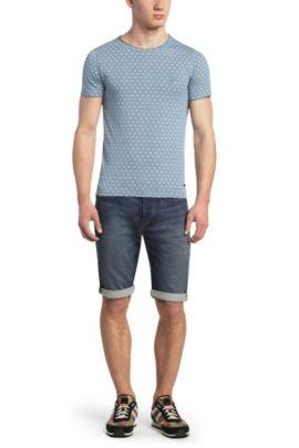T-shirt en coton, à imprimé étoiles: «Tylon», Bleu vif