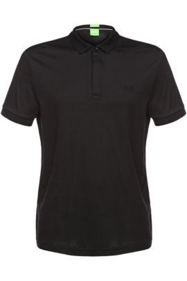 Polo Regular Fit en jersey: «C-Rapino», Noir