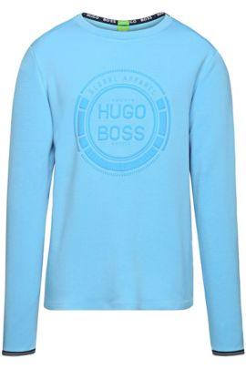 Regular-fit sweater van een katoenmix: 'Seacho', Lichtblauw