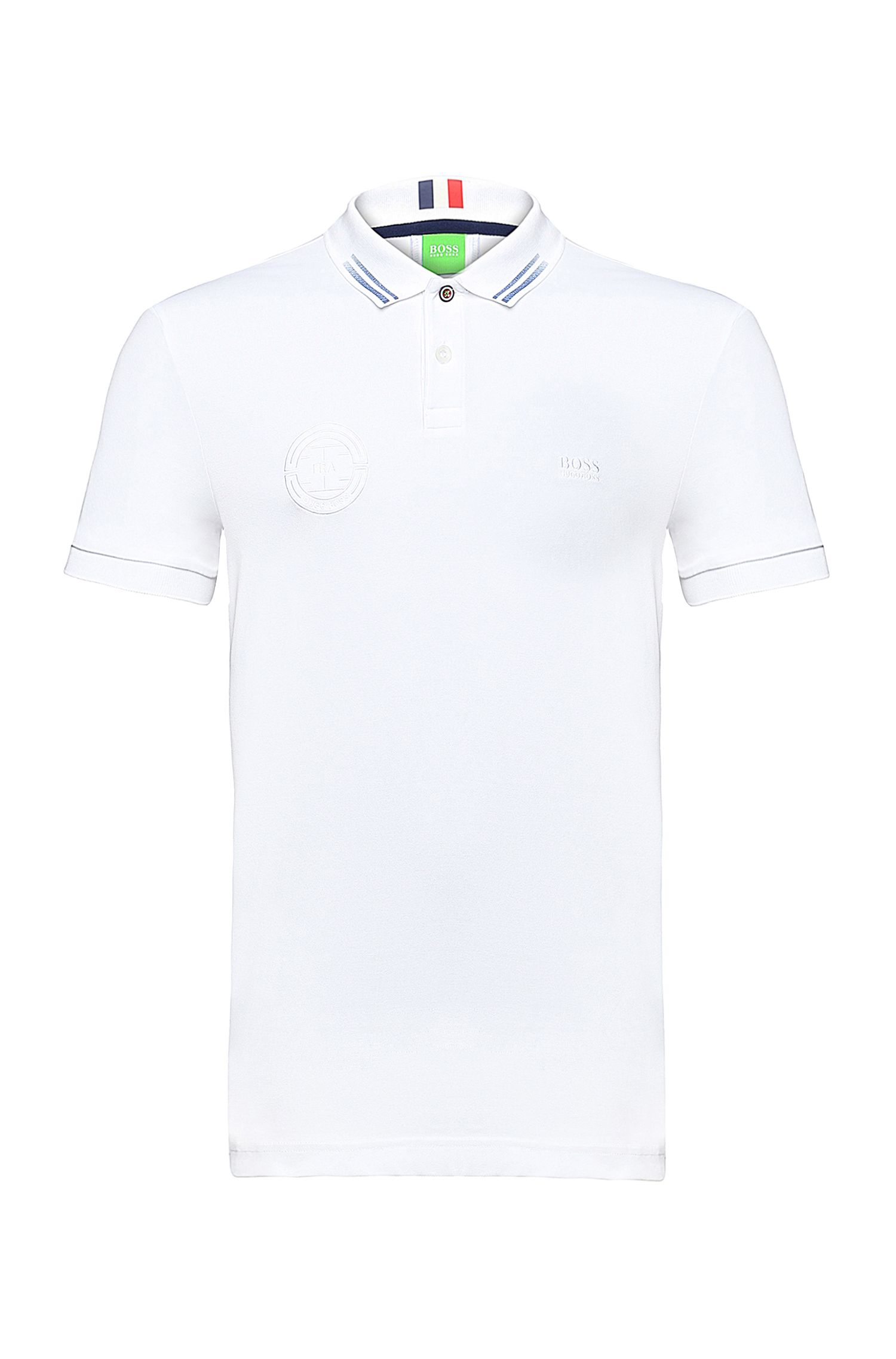 Golf-Polo aus Baumwoll-Gemisch: ´Paule Flag`