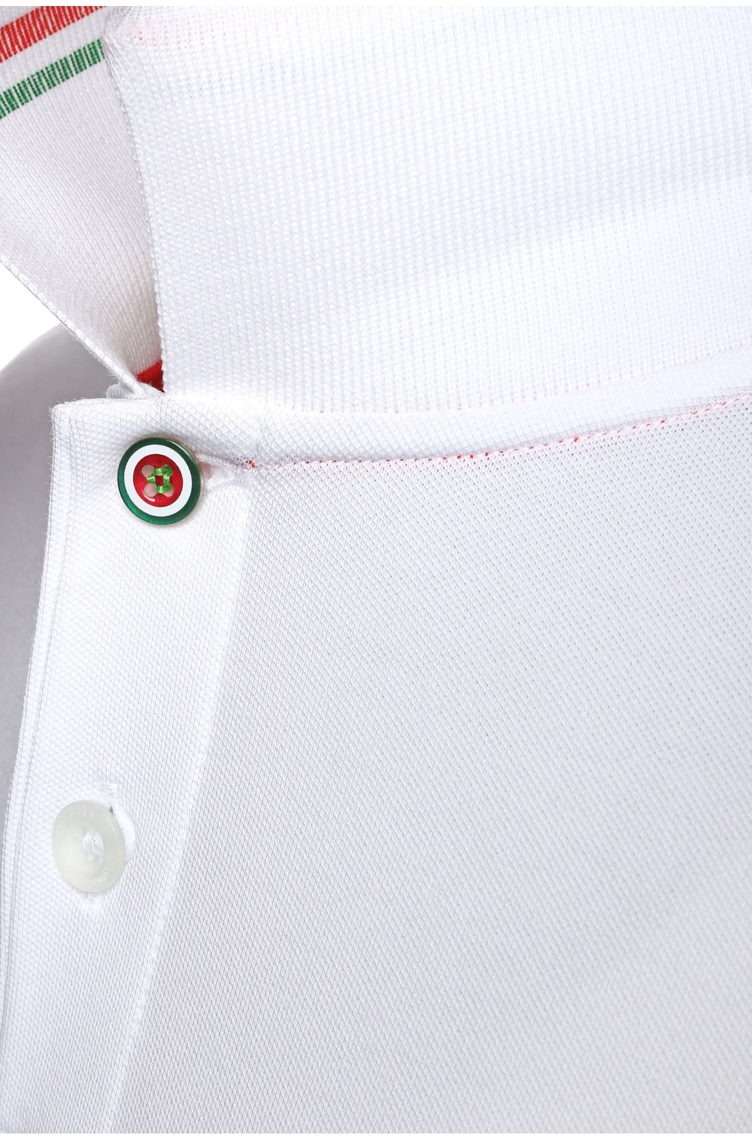 Polo da golf in misto cotone: 'Paule Flag', Naturale