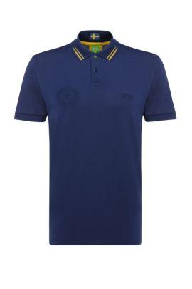 Golf polo shirt in cotton blend: 'Paule Flag', Dark Blue