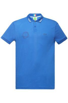 Golfpolo van een katoenmix: 'Paule Flag', Blauw