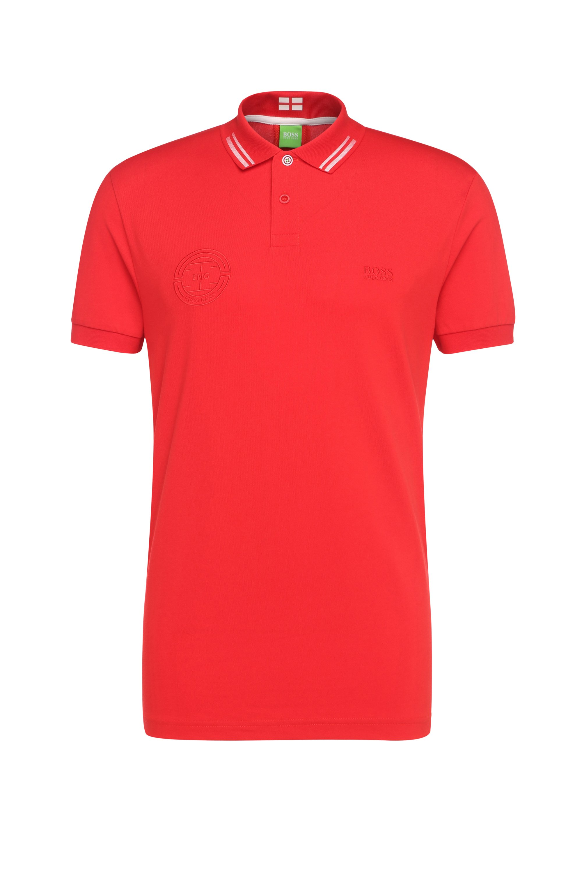 Golf polo shirt in cotton blend: 'Paule Flag', Dark Red