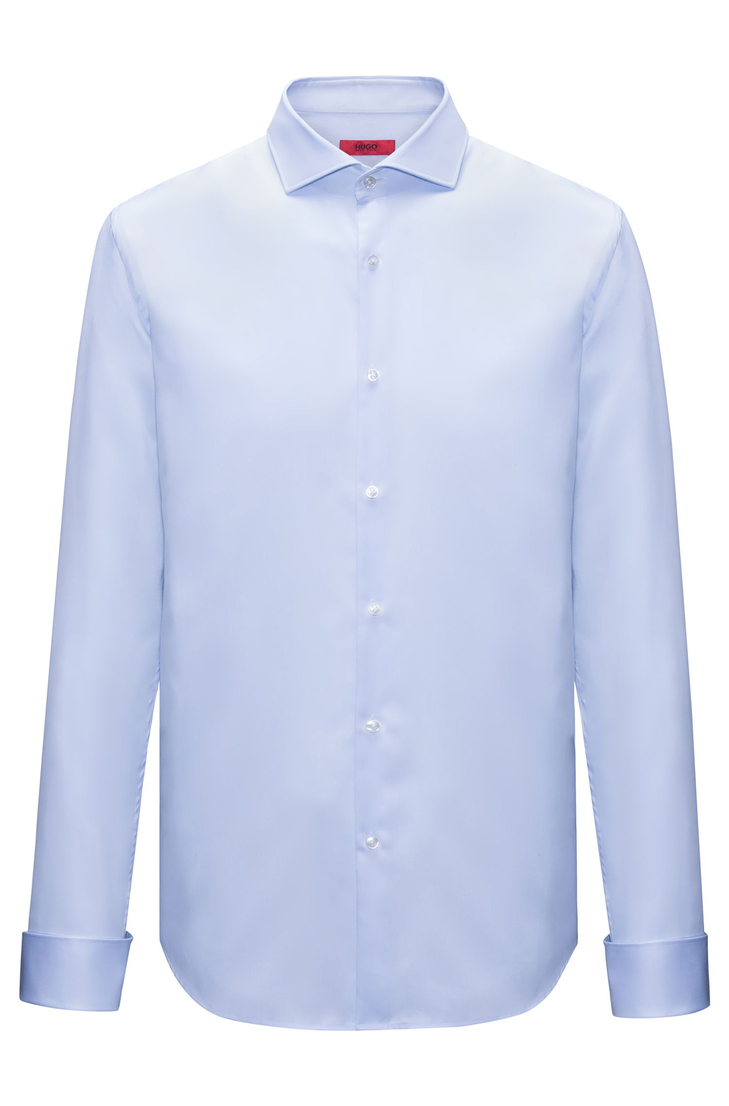 Cotton evening shirt in a slim fit