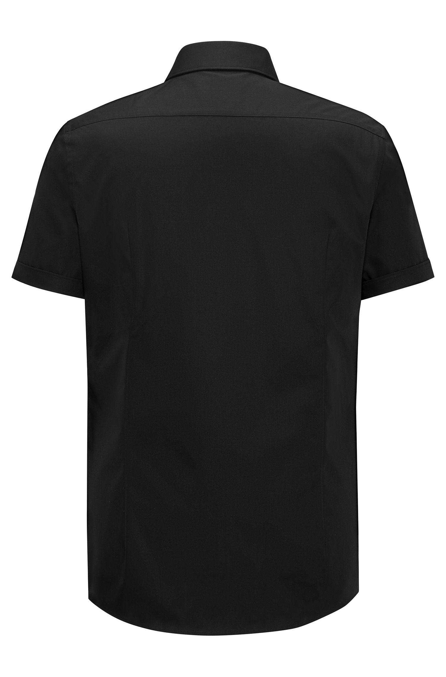 Slim-Fit Kurzarm-Hemd aus Baumwoll-Popeline