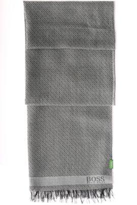 Écharpe en coton et modal: «C-Fanton», Gris chiné
