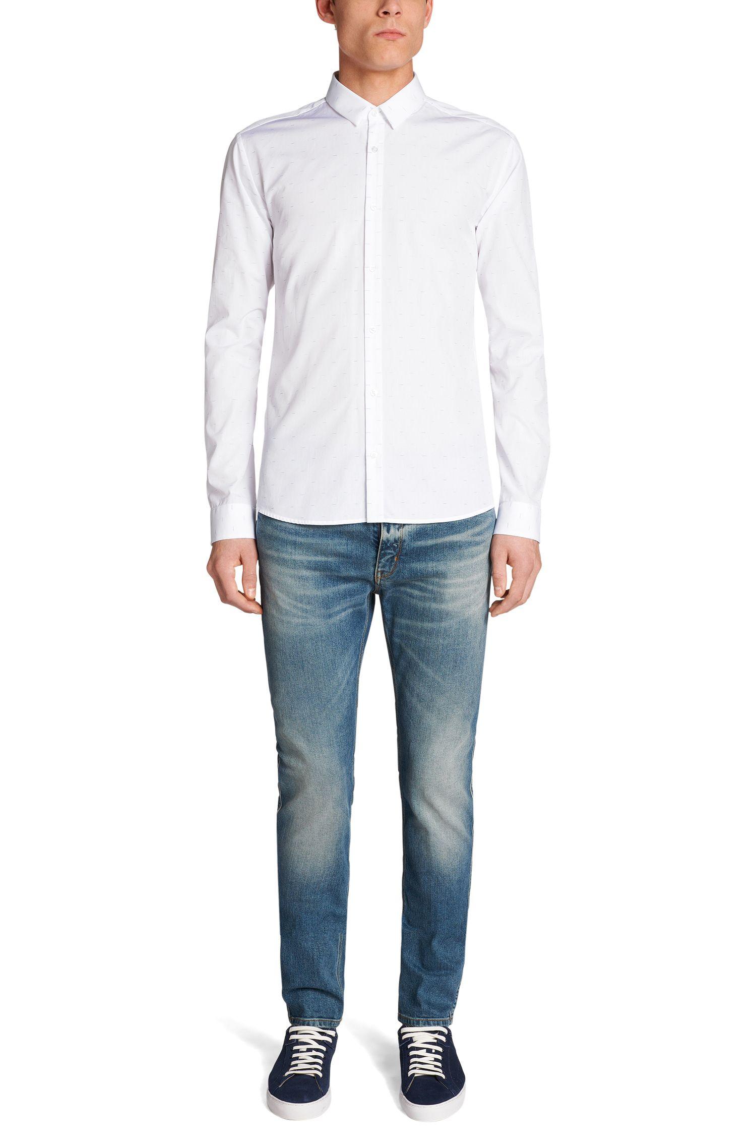 Slim-fit overhemd van katoen: 'Ero3'