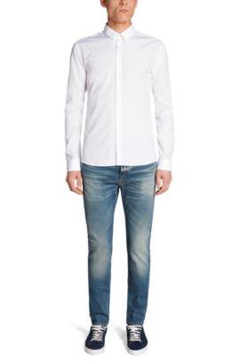 Slim-Fit Hemd aus Baumwolle: 'Ero3', Weiß