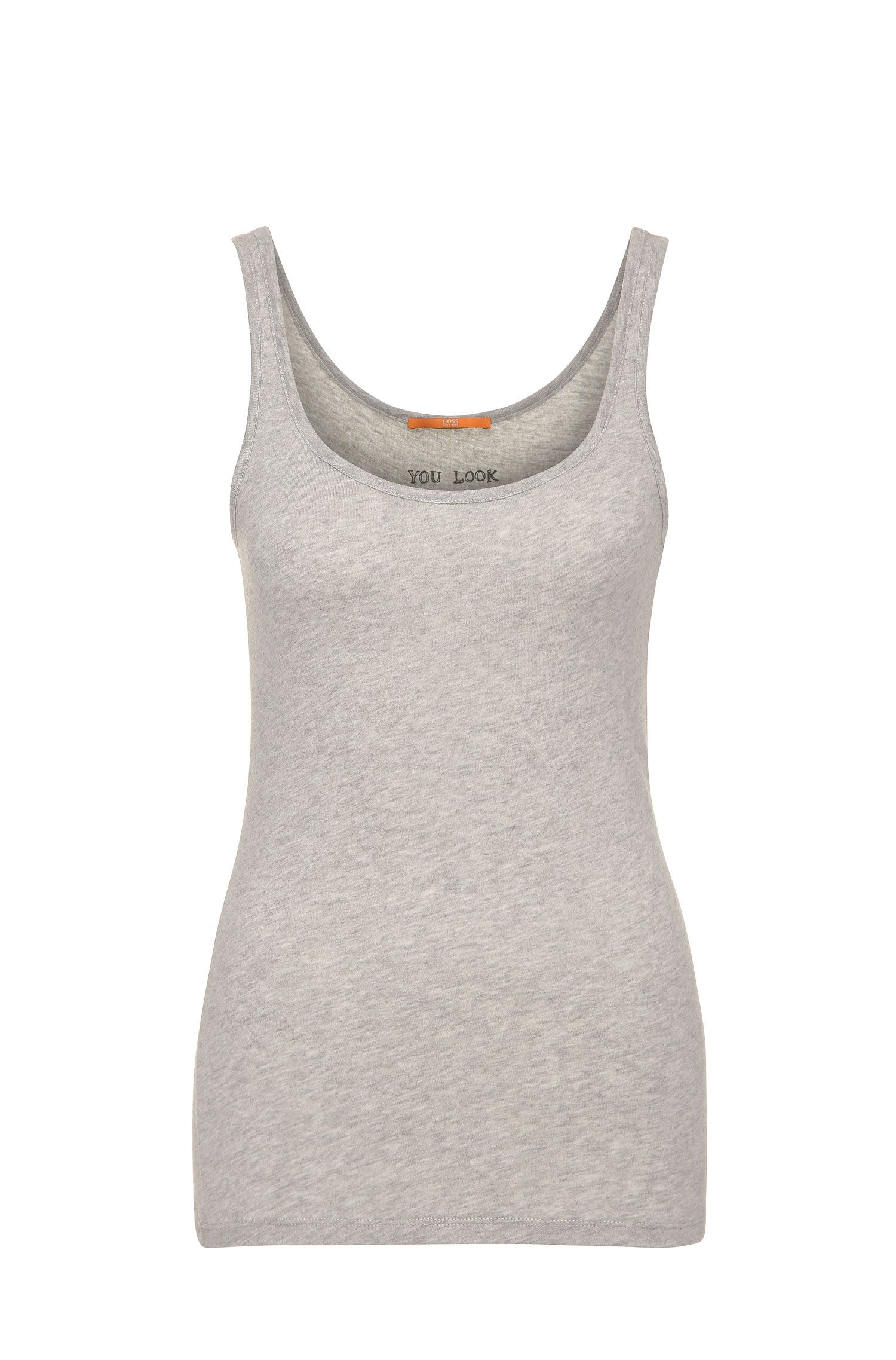 Tank top in cotton blend with modal: 'Tatop'