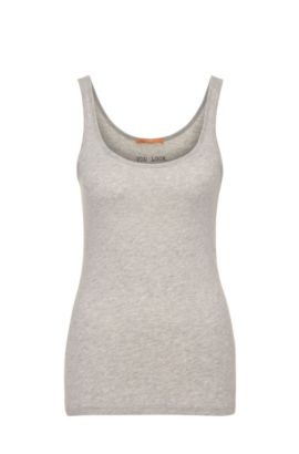 Tank top in cotton blend with modal: 'Tatop', Grey