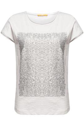 T-Shirt mit Pailletten-Dekor: ´Taglam`, Hellgrau