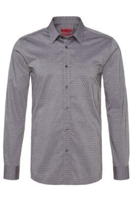 Slim-Fit Hemd aus Baumwolle: 'Elisha', Schwarz