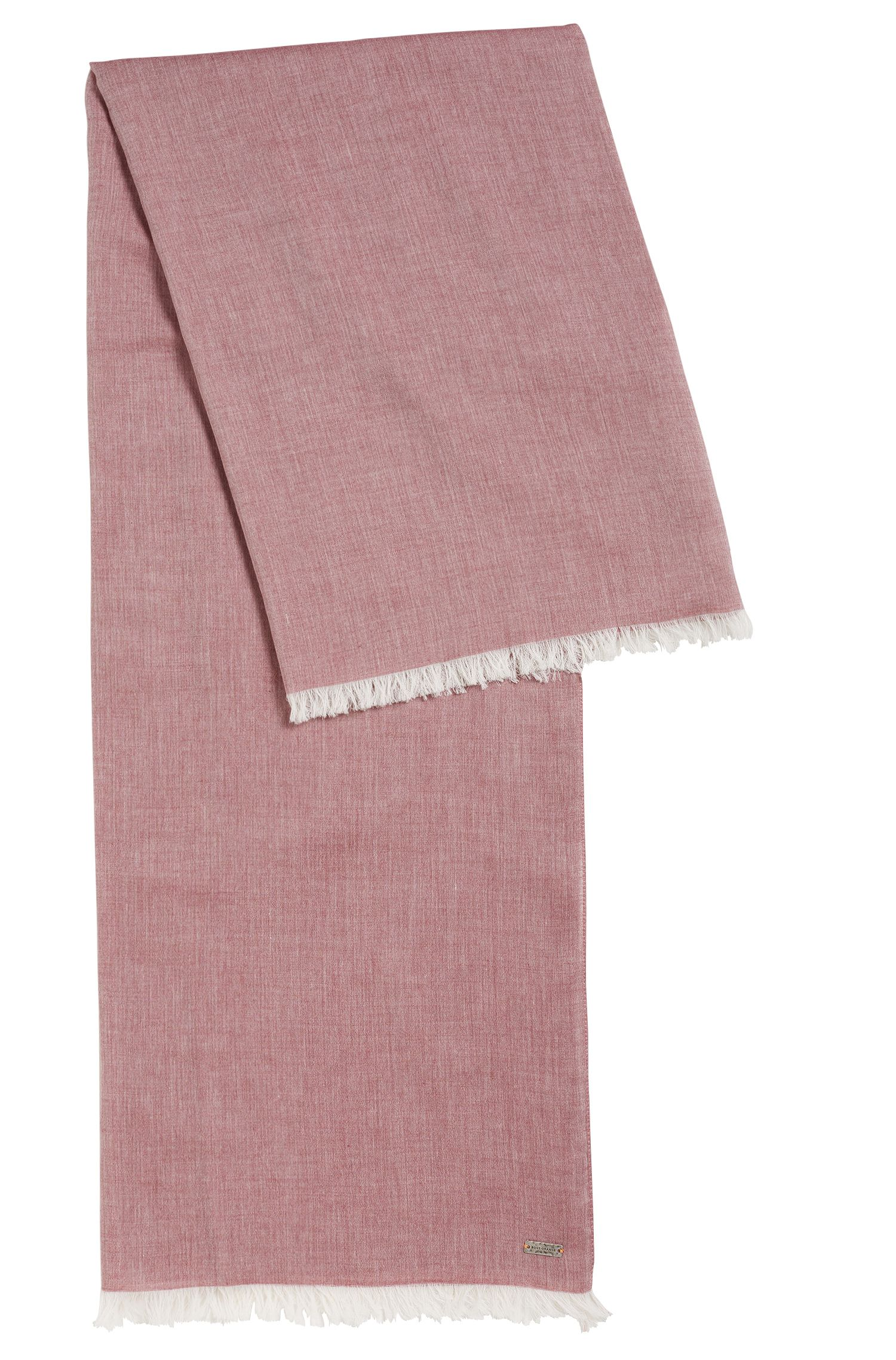 Lightweight scarf with fringe trim