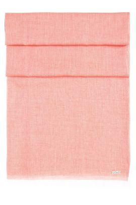 Lightweight scarf with fringe trim, Red