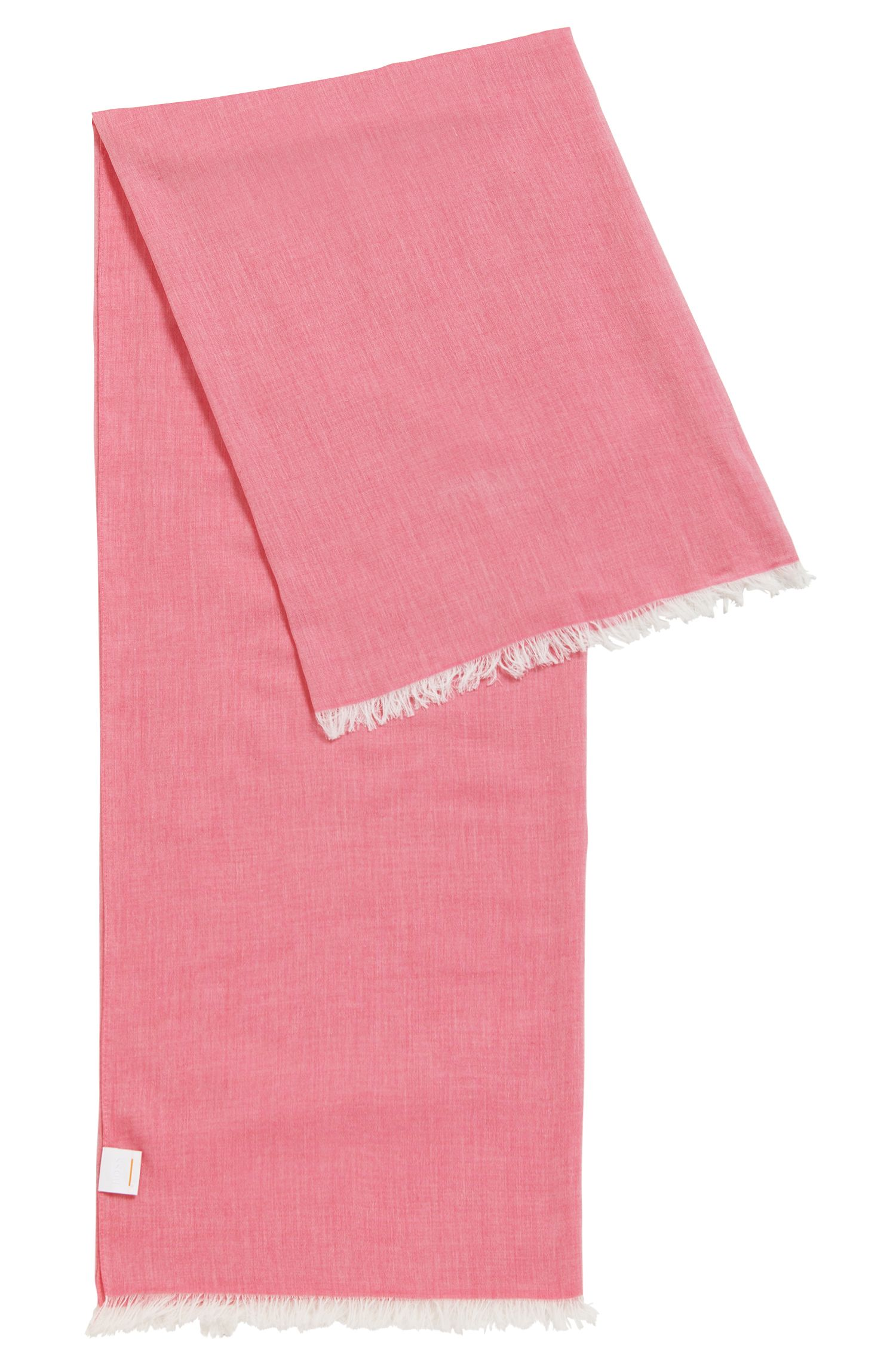 Lightweight scarf with fringe trim
