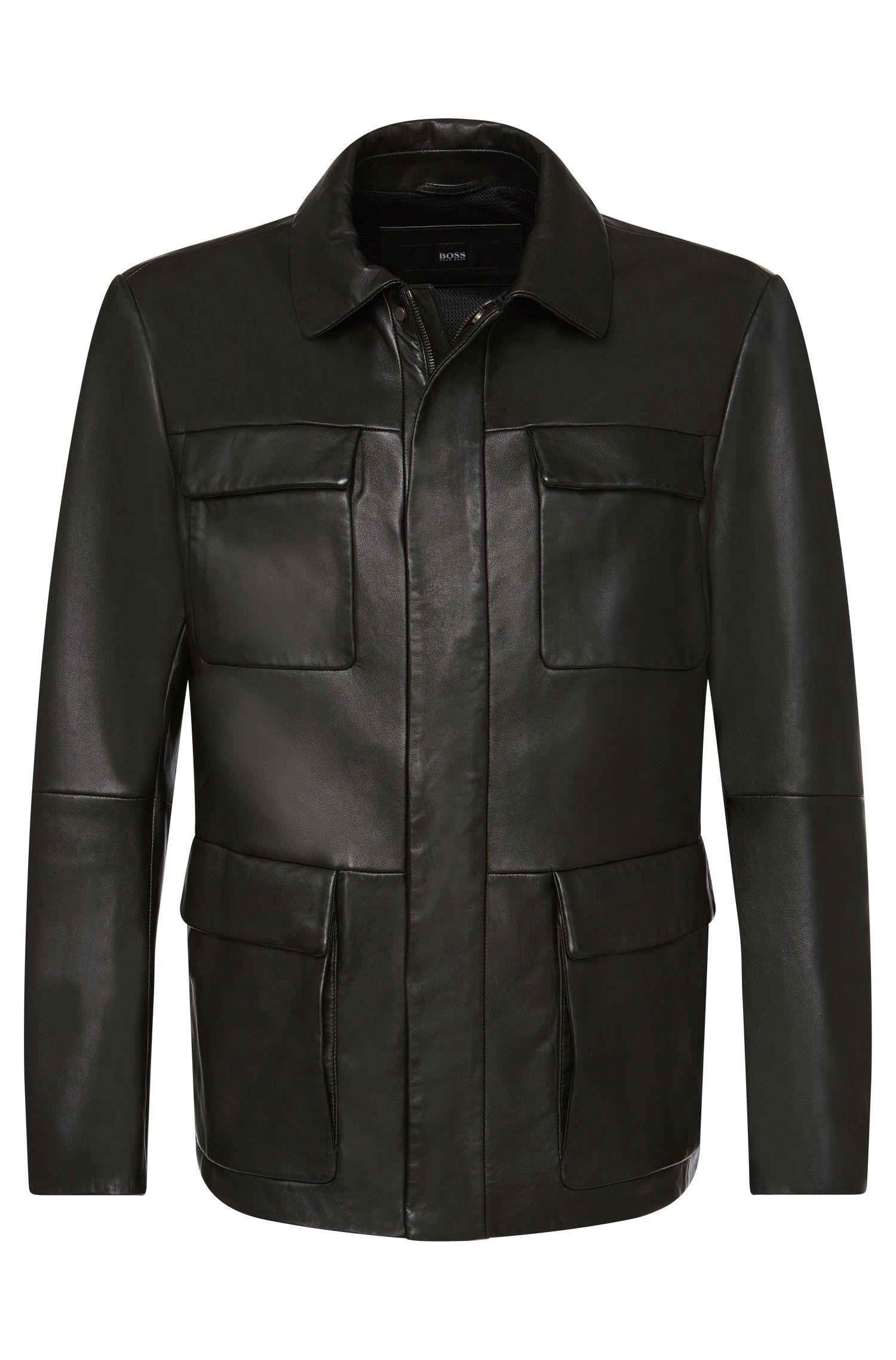 Blouson en cuir Regular Fit: «Girton»