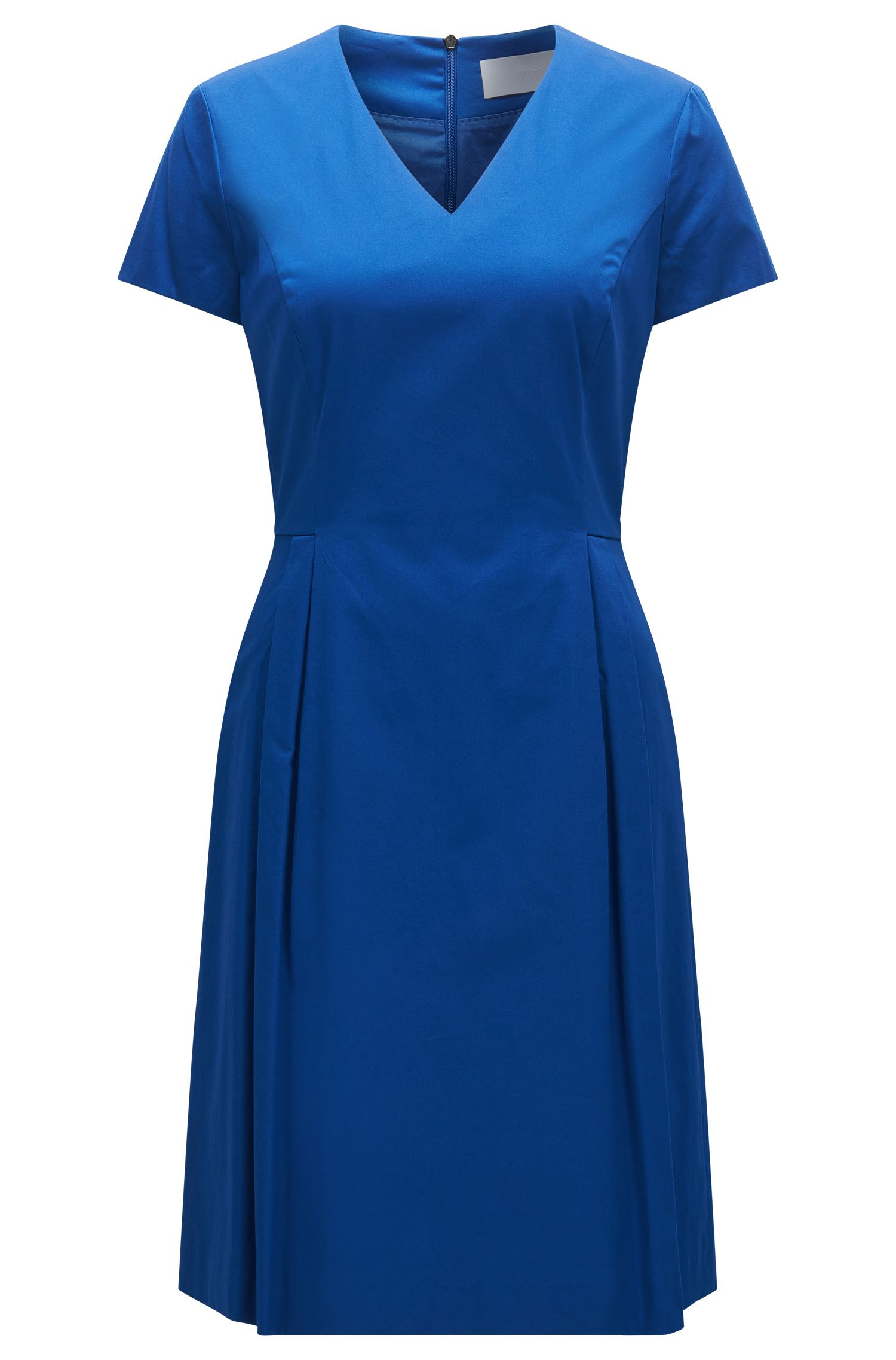 Fitted dress in stretch cotton: 'Hekata1'
