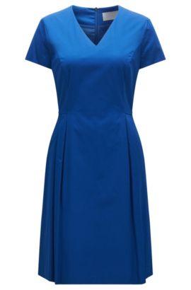 Vestido ajustado en algodón elástico: 'Hekata1', Azul