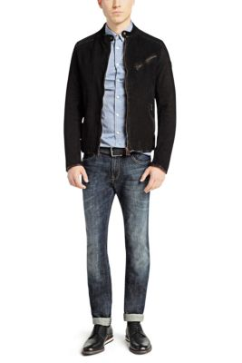 31df6b999ee Leather jackets for men by HUGO BOSS
