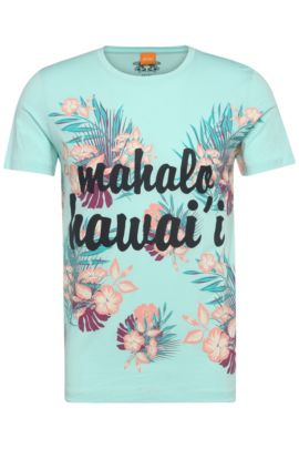 T-shirt en jersey de fil flammé: «Tomsin6», Turquoise