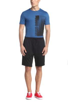 Kurze Sporthose aus Baumwoll-Mix: ´Headlo Flag`, Schwarz