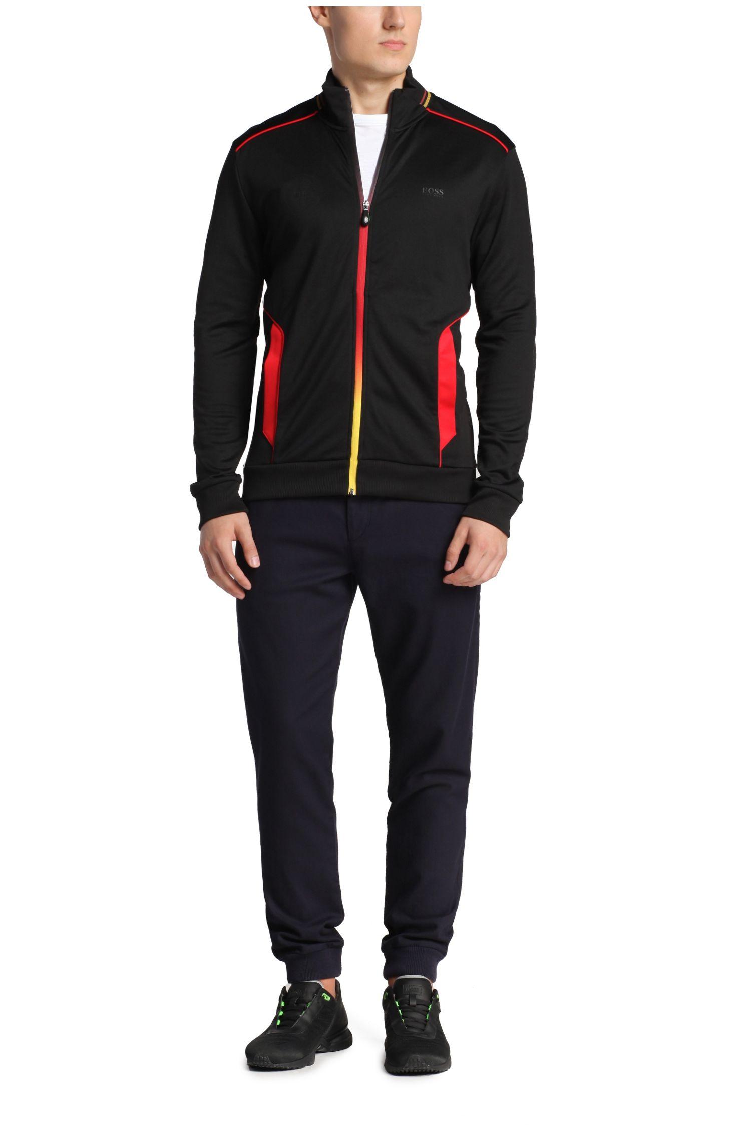 Sweatshirt-Jacke aus Baumwoll-Mix: ´Skaz Flag`