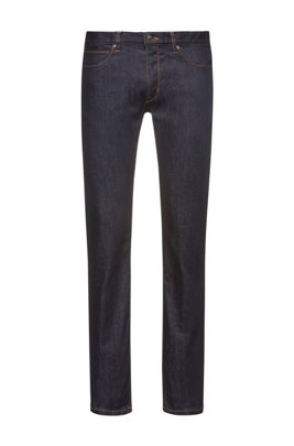 Jeans Slim Fit en denim stretch stay-blue, Bleu foncé