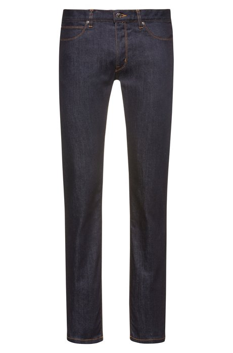 Slim-fit jeans in stay-blue stretch denim , Dark Blue