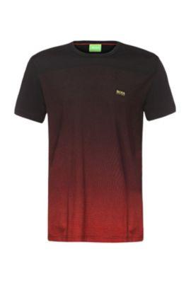 T-shirt imprimé en coton: «Tee Flag2», Noir
