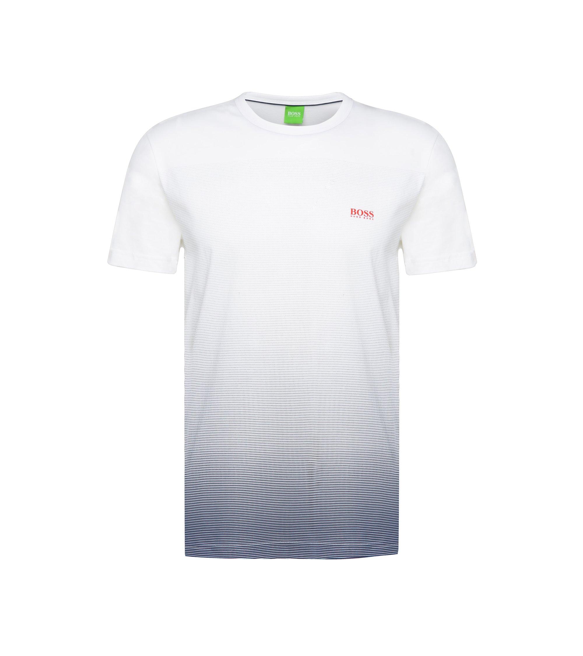Bedrucktes T-Shirt aus Baumwolle: ´Tee Flag 2`, Natur