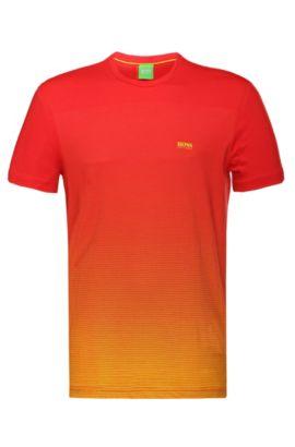 T-shirt imprimé en coton: «Tee Flag2», Rouge sombre