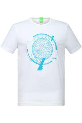 T-Shirt mit Rundhals-Ausschnitt: ´Tee 12`, Weiß