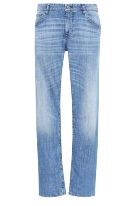 Jeans Regular Fit en coton extensible : « C-B4 », Bleu