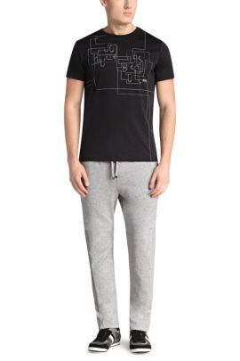 T-Shirt aus Baumwoll-Mix: ´Tee 9`, Schwarz