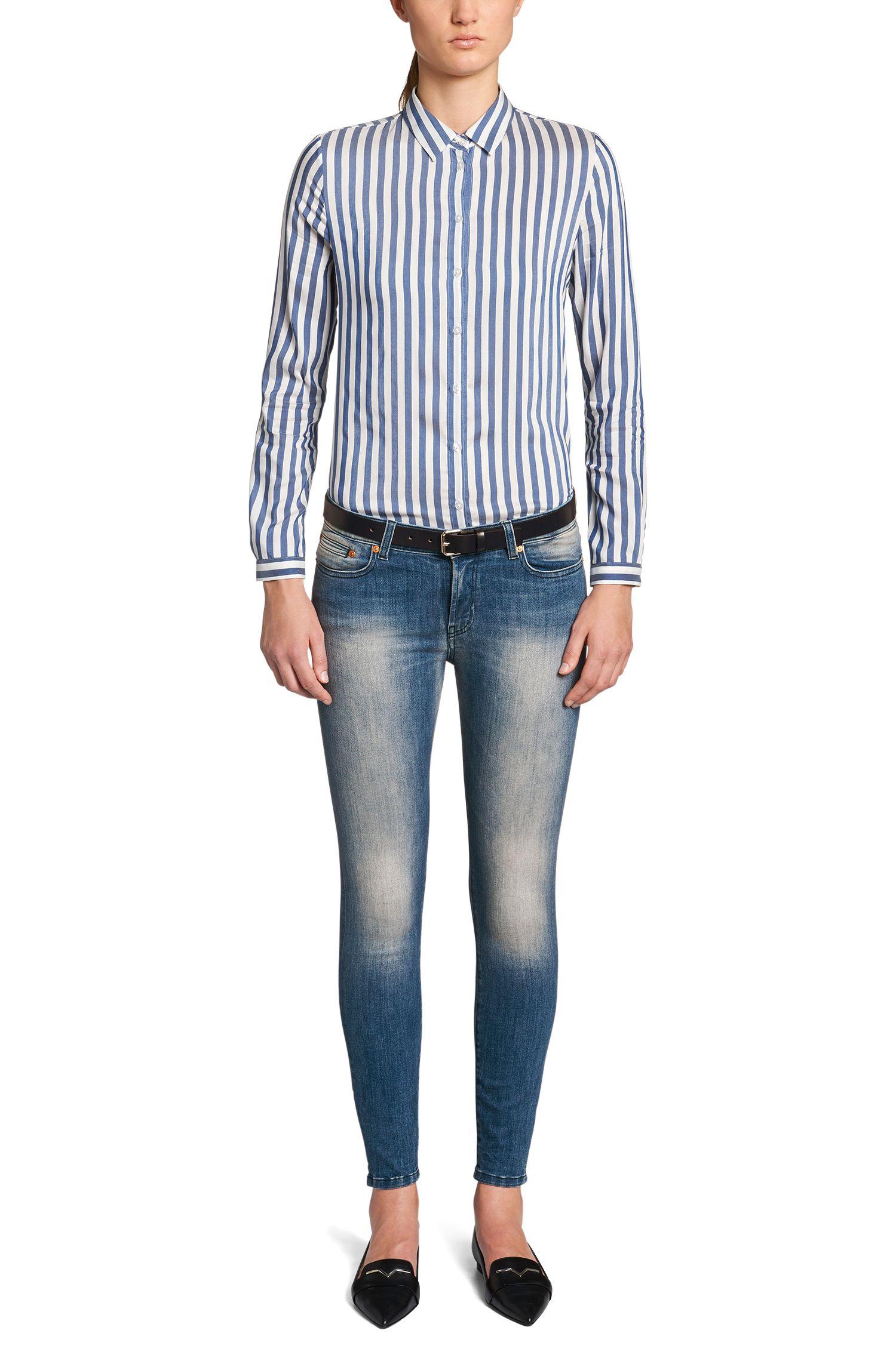 Extra Slim-Fit Jeans aus Baumwoll-Mix: 'Gilljana'