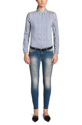 Extra Slim-Fit Jeans aus Baumwoll-Mix: 'Gilljana', Hellblau