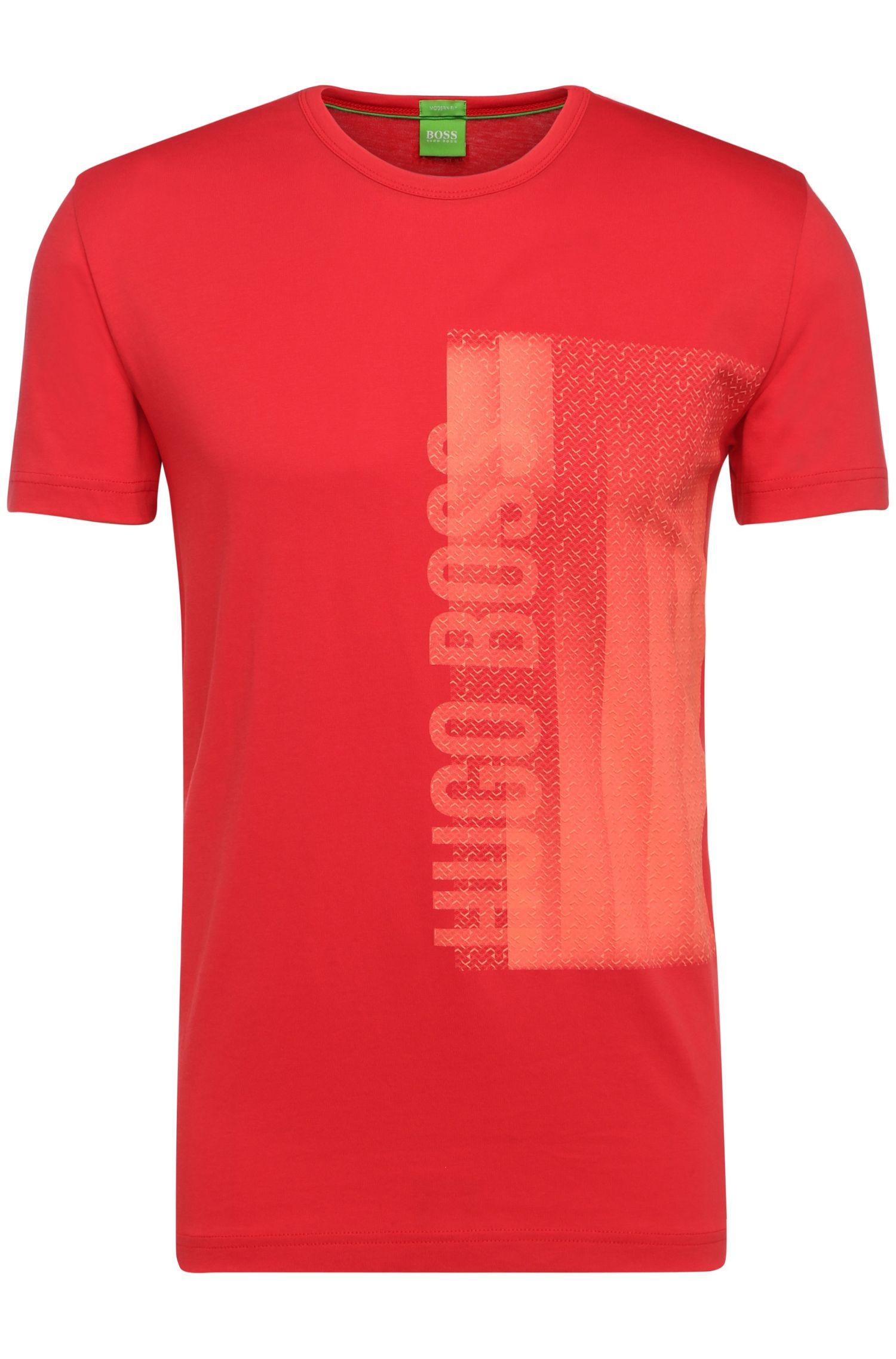T-shirt van katoen met print op de voorkant: 'Tee 4'