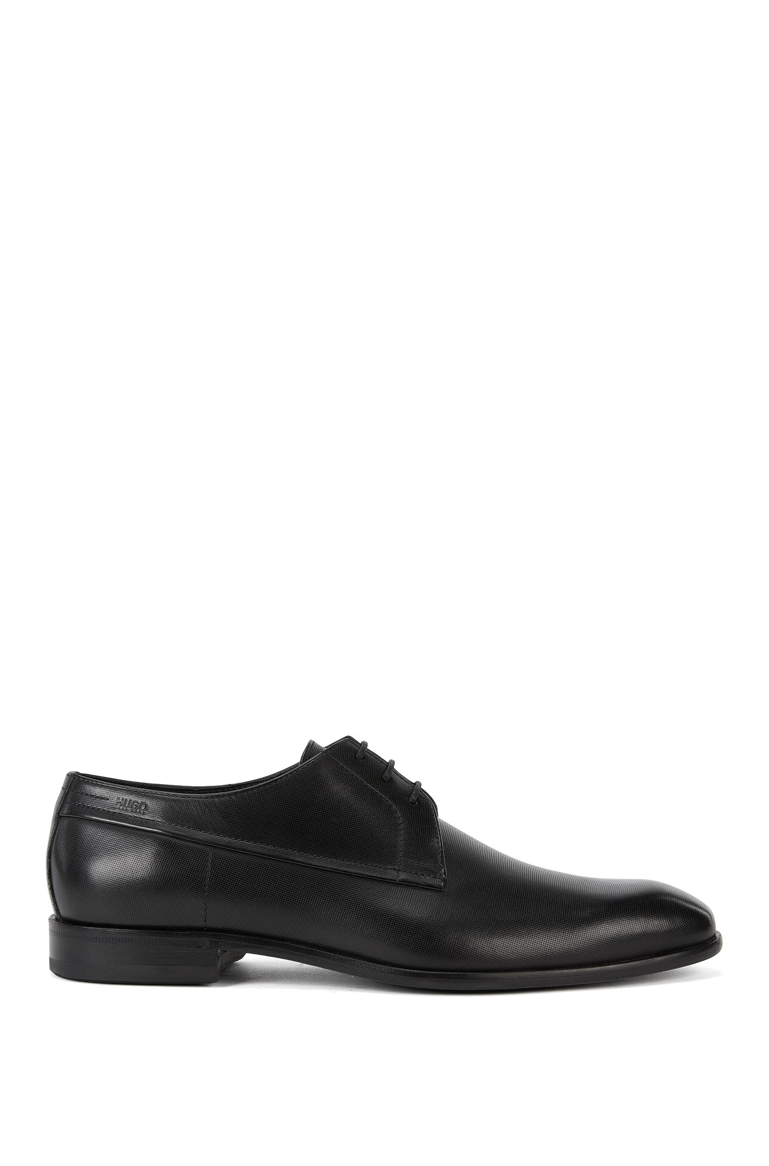 Derby shoes in embossed calf leather by HUGO Man
