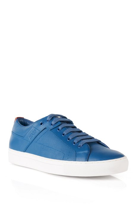 Leather sneakers with structured sections: 'Futesio-SF', Blue