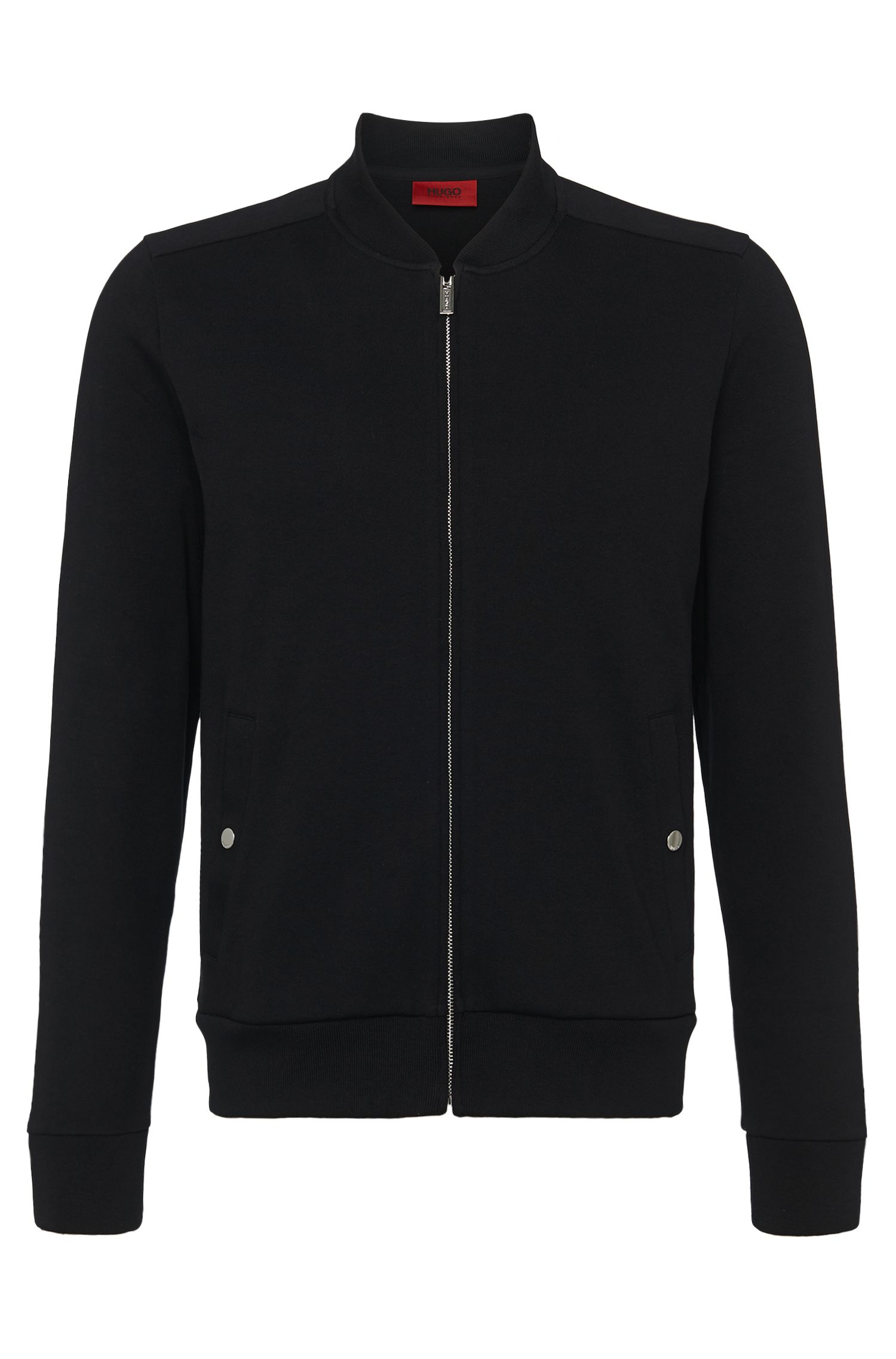 Sweat jacket in cotton: 'Donso'