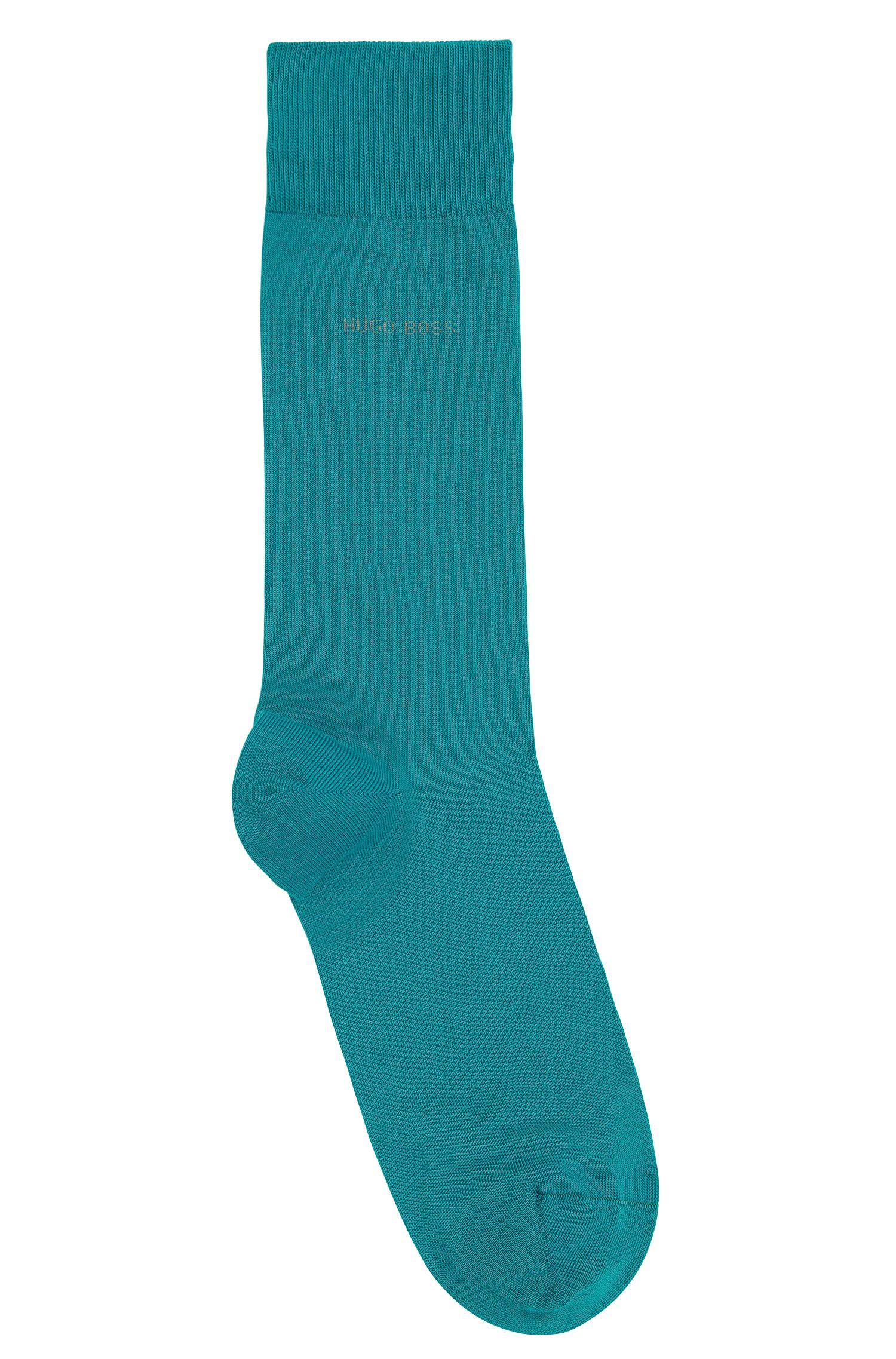Calcetines de largo normal en algodón cepillado con elástico
