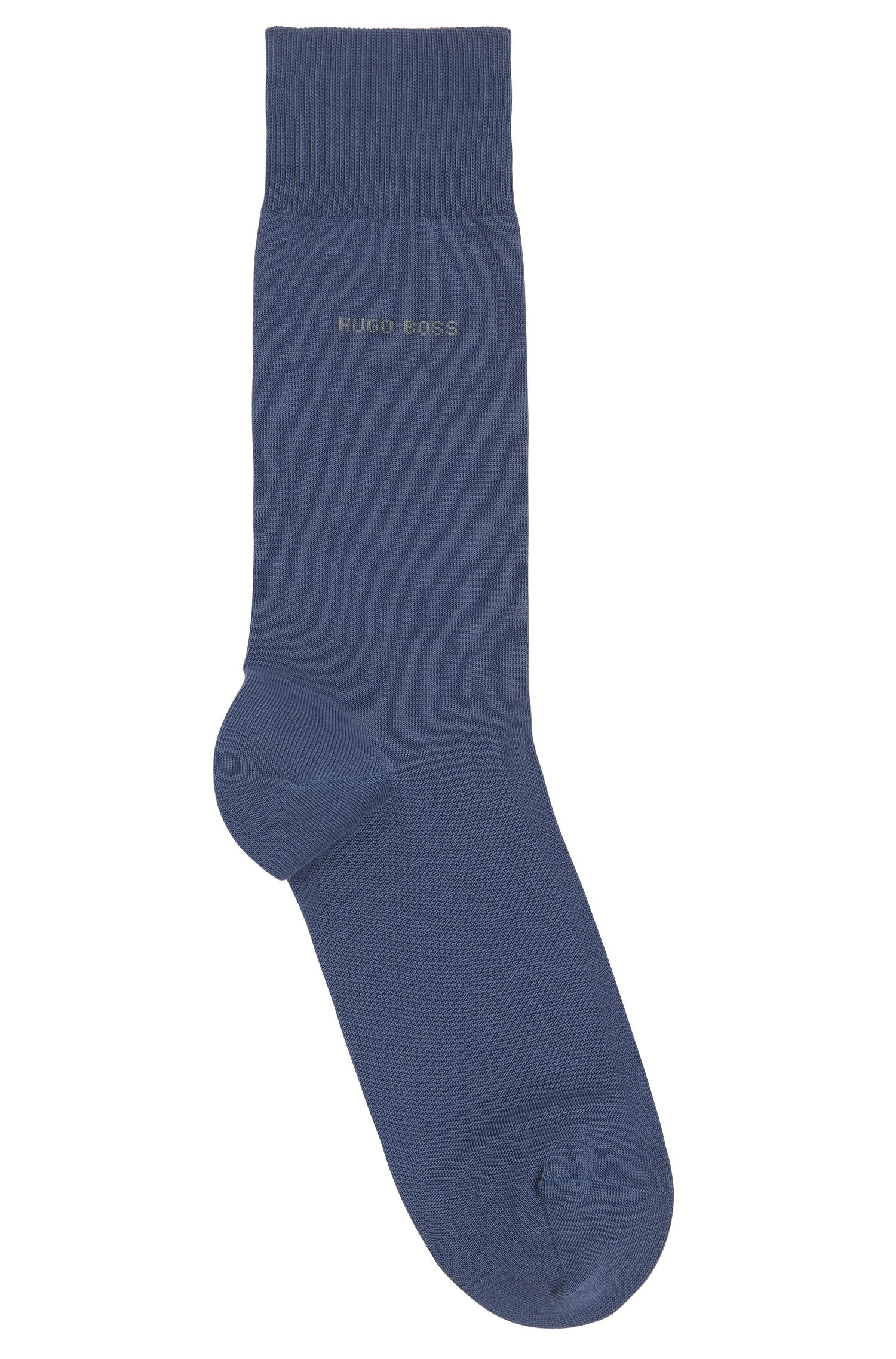 Regular-length socks in combed cotton with stretch