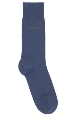 Regular-length socks in combed cotton with stretch, Dark Blue