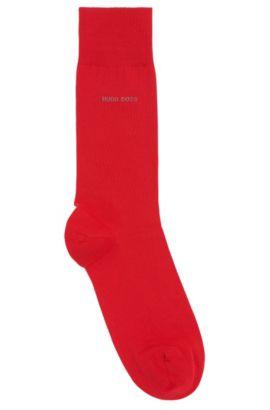 Calcetines de largo normal en algodón cepillado con elástico, Rojo